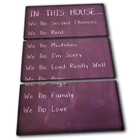 Children House Rules Typography - 13-2379(00B)-TR32-PO